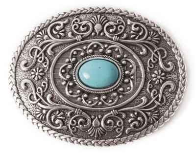 Gürtelschliesse: Ornamente 8,2 x 6,5 cm