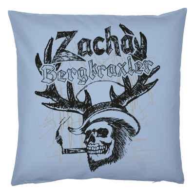 Rockiger Trachten-Kissenbezug: Zacha Bergkraxler