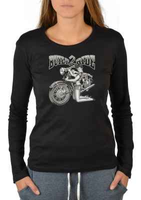 Langarmshirt Damen: Pin Up Girl - Built 2 Ride