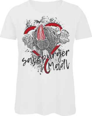 Damen T-Shirt Tracht: Salzburger Madl