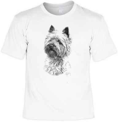 T-Shirt: West Highland Terrier (schwarz-weiß Zeichnung)