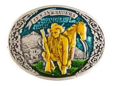 Gürtelschliesse: Texas Rangers 9 x 6,8 cm