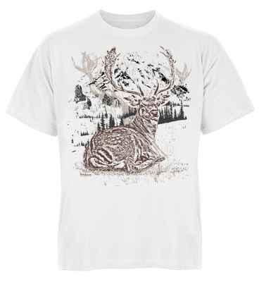 Trachten T-Shirt: Premium Hirsch liegend