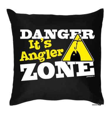 Kissenbezug: Danger - It s Angler Zone