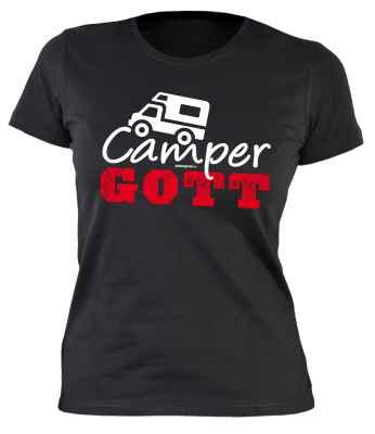 Damen T-Shirt: Camper Gott