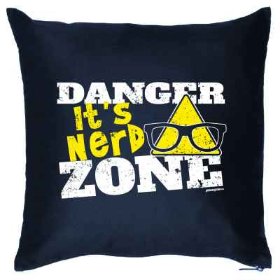 Kissenbezug: Danger - It s Nerd Zone