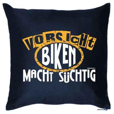 Kissenbezug: Vorsicht! Biken macht süchtig!