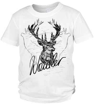 Trachten T-Shirt Jungen: Hirsch Waidler