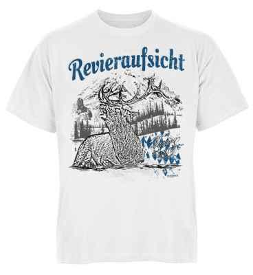 Trachten T-Shirt: Hirsch - Revieraufsicht