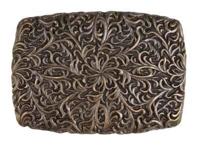 Gürtelschliesse: Ornamente 8,9 x 6,3 cm 40 mm