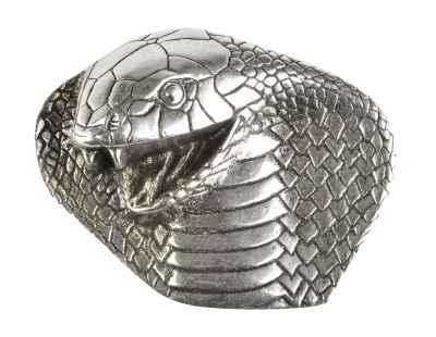 Gürtelschliesse: Kobra 9 x 7 cm