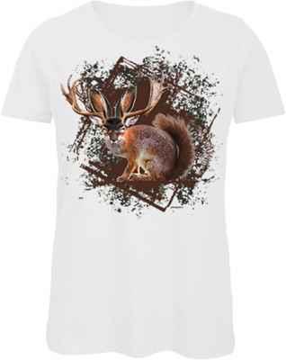 Damen Landhaus T-Shirt: Wolpertinger