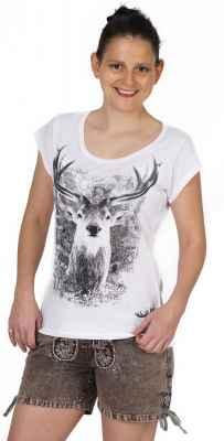 Damen Back Cut T-Shirt Farbe: weiß Material: 100% Baumwolle Größen: S - XL