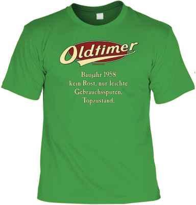 T-Shirt: Oldtimer Baujahr 1958 - kein Rost, nur leichte Gebrauchsspuren, Topzustand.