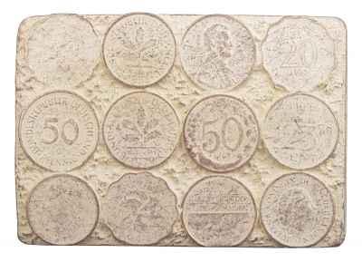 Gürtelschliesse: Münzen 7,7 x 5,4 cm 40 mm