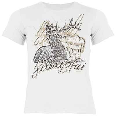 Trachten Shirt Mädchen: Hirsch - Hoamatgfui