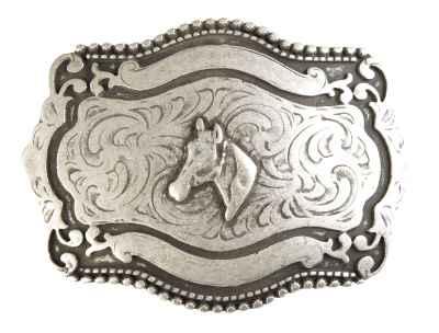 Gürtelschliesse: Pferd 11 x 8,3 cm