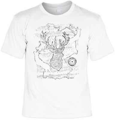 T-Shirt im Trachtenstil: Hirsch