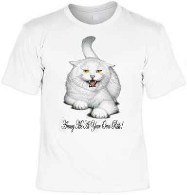T-Shirt: Katze - Annoy me at your own risk!