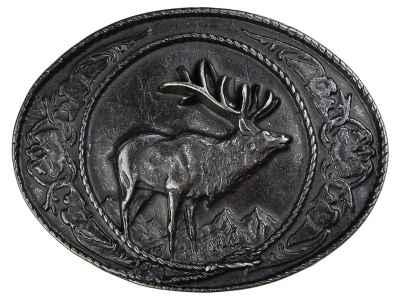 Gürtelschliesse: Hirsch 8,3 x 6,5 cm 40 mm