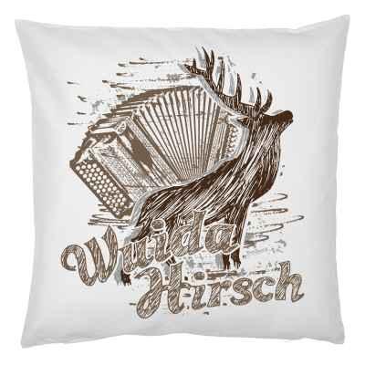 Trachten Kissenbezug: Wuida Hirsch