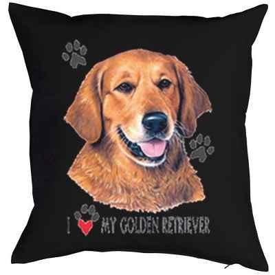 Kissenbezug: I love my Golden Retriever