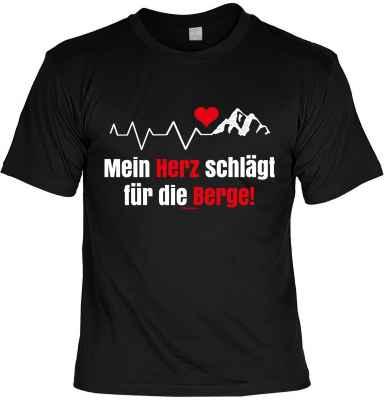 T-Shirt: Mein Herz schlägt für die Berge!