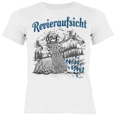 Trachten Shirt Mädchen: Hirsch - Revieraufsicht