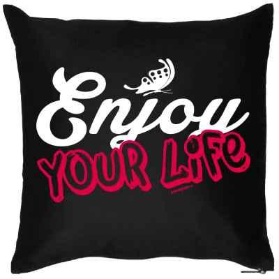 Kissenbezug: Enjoy your Life