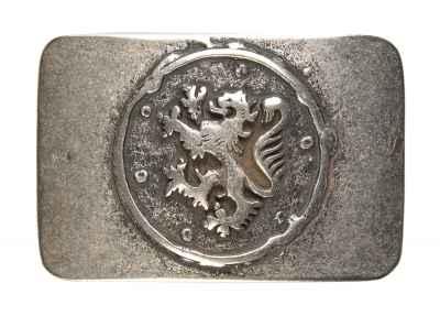 Gürtelschliesse: Landeswappen 8 x 5,5 cm 40 mm