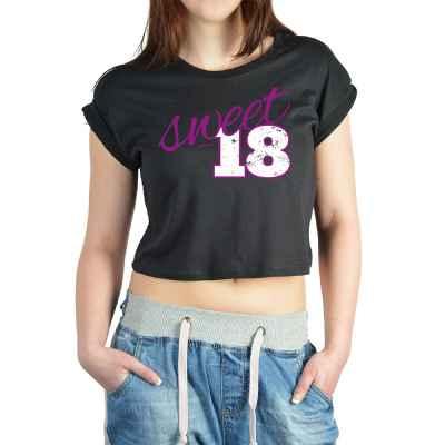 Crop Top Damen: Sweet 18