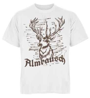 Trachten T-Shirt: Hirsch - Almrausch