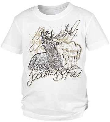Trachten T-Shirt Jungen: Hirsch Hoamatgfui