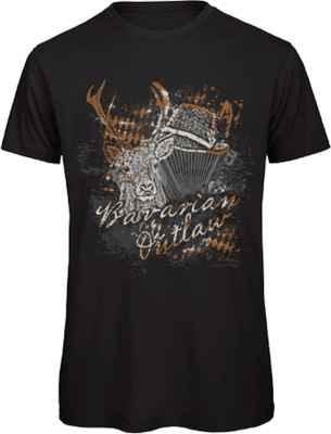 T-Shirt Landhaus: Bavarian Outlaw Hirsch Trachtenhut