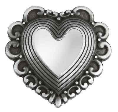 Gürtelschliesse Herzen silber 40 mm
