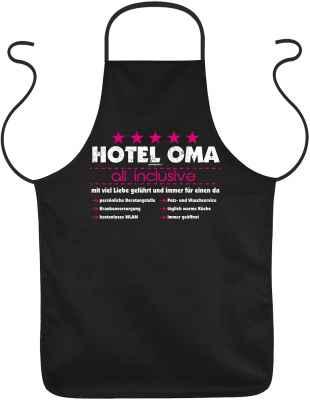 Schürze: Hotel Oma - all inclusive - mit viel Liebe geführt und immer für einen da ?