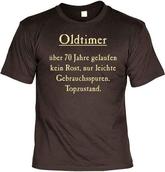T-Shirt: Oltimer über 70 Jahre gelaufen?
