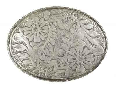 Gürtelschliesse: Floral 7,8 x 5,8 cm