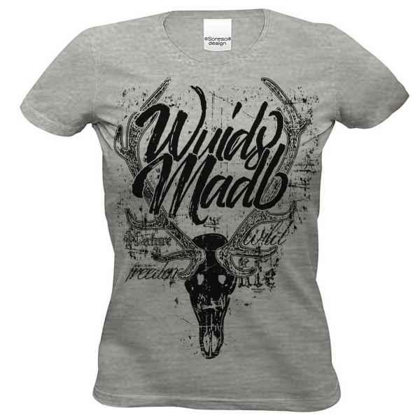Damen T-Shirt Farbe: Dunkelgrau Material: 85% Baumwolle, 15% Viskose Größen: S - XL
