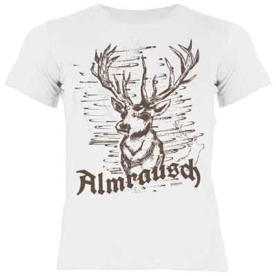 Trachten Shirt Mädchen: Hirsch - Almrausch