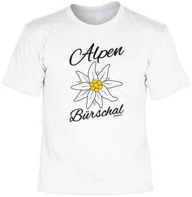 T-Shirt: Alpen Bürschal - Edelweiß