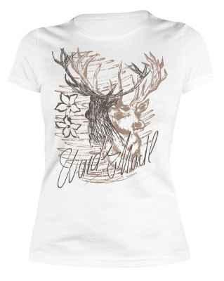 Trachten Damen T-Shirt: Wuids Madl - Hirsch