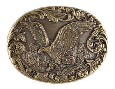 Gürtelschliesse: Adler 7,8 x 6 cm