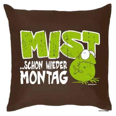 Kissen mit Füllung: Mist... Schon wieder Montag