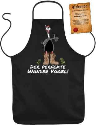 Schürze mit Urkunde: Der perfekte Wander Vogel!