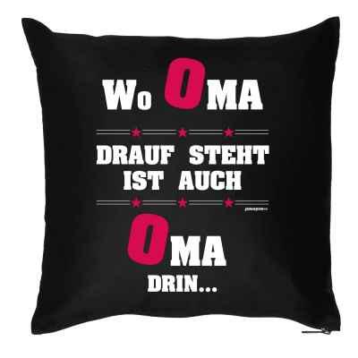 Kissen mit Füllung: Wo Oma drauf steht ist auch Oma drin?