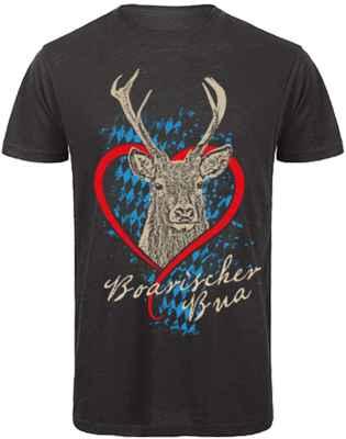 Trachten T-Shirt: Boarischer Bua