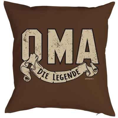 Kissen mit Füllung: Oma - Die Legende