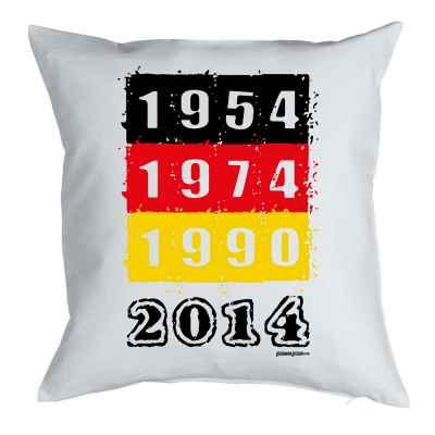 Kissen mit Füllung: Fussball WM 1954 - 1974 - 1990 - 2014