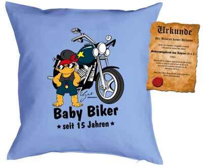 Kissen mit Füllung: Baby Biker seit 15 Jahren